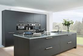 kitchen grey feature wall