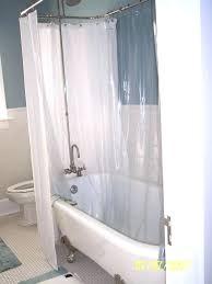 clawfoot bathtub shower curtain bathtub shower curtain shower curtain tub stylish co within 1 cloth shower