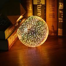 Novelty Led 3d Night Light Fairy Fireworks 3d Led Lamp Vintage