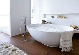 View in gallery A white egg-shaped bathtub