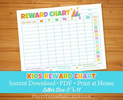 Reward Chart Kids Routine Chart Weekly Chore Chart Printable Kids Charts Children To Do List Toddler Behaviour Chart Daily Checklist