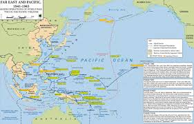 map of wwii  major operations in asia and the pacific