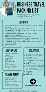 Packing For Vacation Lists Business Travel Packing List Business Travel Life