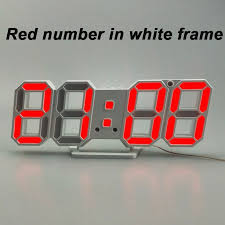 <b>3D LED Wall Clock</b> Modern Digital Alarm Clocks For Home Living ...
