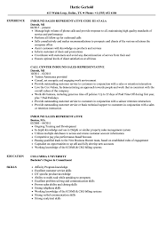 Inbound Sales Representative Resume Samples | Velvet Jobs