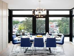 Modern Condo With A BigCity Feel Amy Elbaum HGTV - Dining room chairs blue