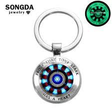 Songda 2019 Newest Luminous Iron Man Tony Stark Keychain