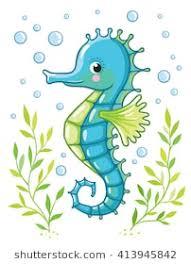 cute seahorse clipart. Perfect Cute Cute Cartoon Sea Horse Isolated Seahorse And Algae On A White Background  Vector Illustration With Clipart O
