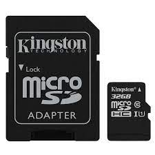 Thẻ Nhớ Micro SDHC Kingston 32GB Class 10 (Có Adapter) - Hàng Chính Hãng |  camera hanhtrinh