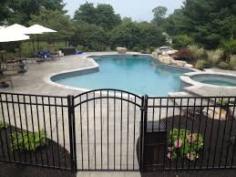 Exterior:Modern Design Bamboo Privacy Fence Ideas Marvelous Iron Fence Idea  For Your Backyard Pool