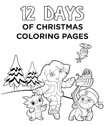 Nick Jr Christmas Coloring Pages At Getdrawingscom Free For