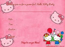 invitation card hello kitty printable hello kitty birthday invitation template party birthday