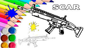 Fortnite Scar Siegebreaker Homemade Printable Coloring Page For