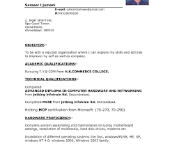 Stupendous Resume Samples For Experienced Inrd Format Job Download ...