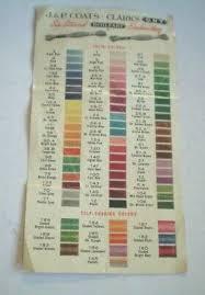 Coats And Clark Thread Chart Vintage Coats Clarks Boilfast Metal Thread Slanted
