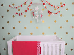 Polka Dot Bedroom Mint Coral And Gold Nursery Polka Dot Walls Dots And Project