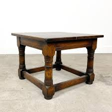 small vintage square coffee table for