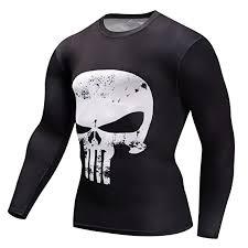 Buy <b>Findci Mens</b> 3D Printing Skull Shirt Short and Long Sleeve ...