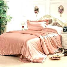 rose gold comforter pink and bedroom set dusty silk duvet cover bedding hand crafted romantic full