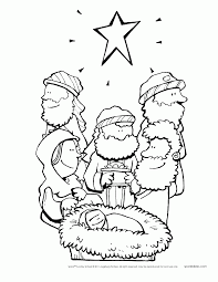 Bible Christmas Story Coloring Pages Many Interesting Cliparts