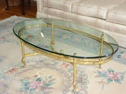 oval classic glass brass table mint image ethan allen georgian court coffee
