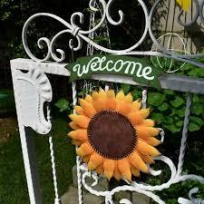 sunflower welcome door wreath sunflower