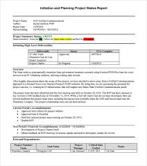 Weekly Project Status Report Sample 14 Sample Project Status Reports Pdf Word Pages Portable Documents