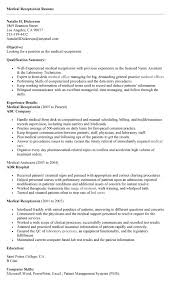 receptionist resume sample - Sample Resume For Medical Receptionist With No  Experience