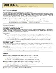 Sample Public Relations Manager Resume 3 Best Template Collection