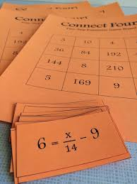 connect four two step equations game for 6th 8th grade math this math game helps students practice solving two step equations