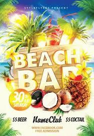 Beach Flyer Beach Bar Psd Flyer Template 9459 Styleflyers