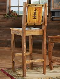 Barnwood Bar barnwood barstools w carved tree 4220 by xevi.us