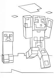 Disegno Di Steve E Creeper Di Minecraft Da Colorare Disegni Da