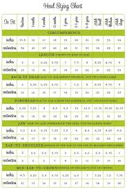 Crochet Size Chart Sizing Chart A Unique And Substantial Knitter Friendly Head