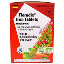 Flora Herbal <b>Floradix Iron Tablets Supplement</b>