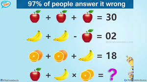 the viral apple banana orange puzzle with answer genius math puzzles