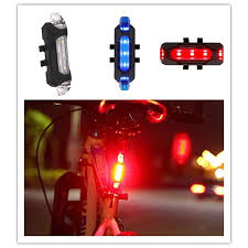 USB Charge Waterproof 5 <b>LED</b> 4 Mode <b>Bicycle</b> Taillight <b>LED</b> ...