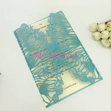 Sea Shell Wedding Invitations 2018 Blue Seashell Free Printed Wedding Invitations Cards With Hollow Out Rustic Laser Cut Invitation Card Flowers Elegant Party Invites Canada 2019