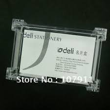 Business Cards Display Stands Simple 32pcslot Clear Plastic Business Card Holder Mame Cards Case Display