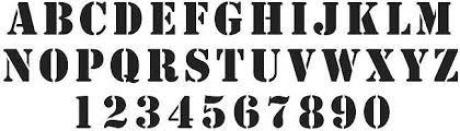 Number Stencil Font Stencils Co Za Online Stencil Store