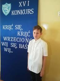 Adam Kundera na podium w konkursie literackim | Szkoła Podstawowa nr 27 w  Kielcach