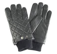 Men's Barbour Quilted Leather Glove (Black). Cockney Rebel ... & Barbour Quilted Leather Gloves Adamdwight.com