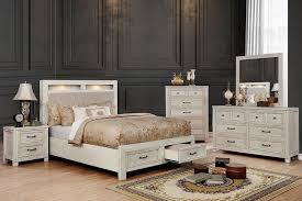 CM7365WH Tywyn White Bedroom Set | Furniture of America | Free Delivery