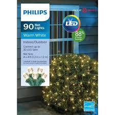 Round Warm White Christmas Lights Philips 90 Ct Christmas Led 4 X 4 Round Sphere Net String Lights Warm White