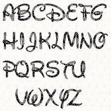 Cool Letters Stencils Printable Alphabet Letter Stencil Walt Disney Alphabet Template In