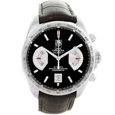 13155 tag heuer grand carrera brown leather strap mens watch cav511a swisswatchexpo