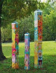 garden pole. Blessed Nest Art Poles Garden Pole O