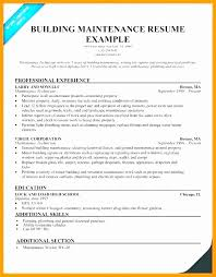 General Maintenance Resume Amazing Sample Resume For Maintenance Worker Luxury Building Maintenance