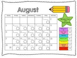 Free Editable Behavior Chart Editable Class Dojo Clip Chart Behavior Calendar Notebook