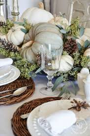 SOFT AND NATURAL THANKSGIVING TABLESCAPE. Fall Table DecorationsAutumn  CenterpiecesHarvest ...